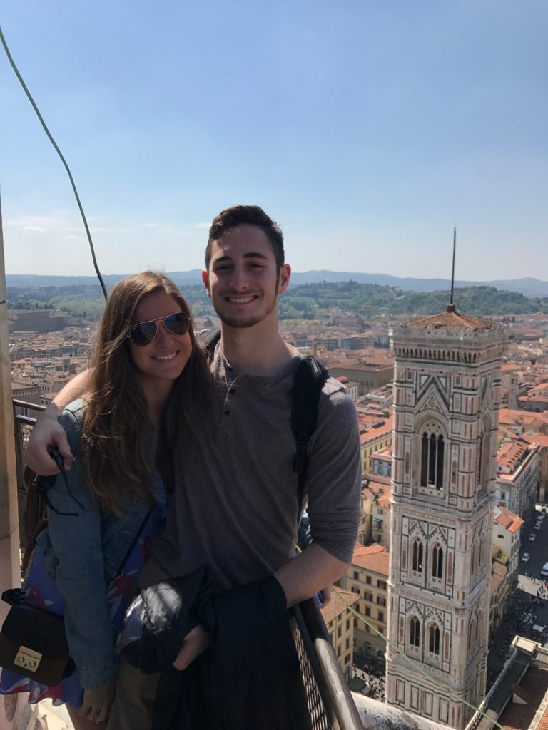 On top of the Duomo in Florence Italy